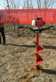 果农们用栽植施肥神器栽树挖坑机