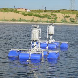 煤制气废水蒸发塘雾化器 JWQ-1型漂浮式机械雾化蒸发器