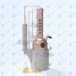 酿酒设备 德系一体式多功能蒸馏设备 铜蒸馏 可定制 欢迎咨询