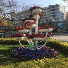万华 室外立体花架景观 组合花盆 多层花架 支持定做提供安装