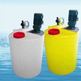 1000L水处理设备配套药箱塑料PE加药箱搅拌机加药桶耐酸碱加药桶