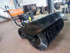 浩鸿手扶式小型滚刷扫雪机自己门前厚积雪清扫不费力扫雪头可换