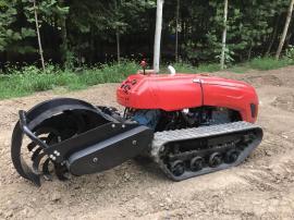 浩鸿遥控农用多功能开沟机柴油发动机强劲动力快速进行开沟作业