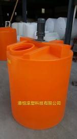 塑料容器PE加药箱 1吨圆形立式加药箱/搅拌桶/塑料加药桶