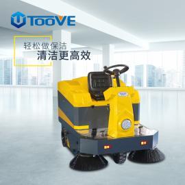 中小型驾驶式扫地机带喷水带顶棚的工业型扫地车