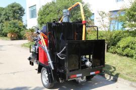 手扶100L沥青胶灌缝机 采用燃烧器加热使用更安全熔化沥青更快速