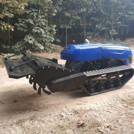 履带式自走微耕机遥控操作指令包含多种功能打药打草施肥一体机