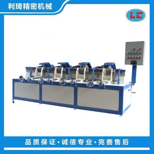 四组外圆自动抛光机 铁管自动抛光机 圆管自动拉丝机LC-ZP804