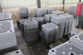 630板框压滤机滤板@景县增强聚丙烯材质630隔膜厢式压滤机滤板
