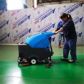 车间用的会自动行走的电动拖地机双刷洗地机