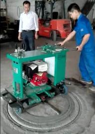 井盖圆形切割机路面窨井切园机切缝整齐不伤路面