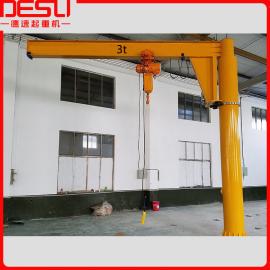 立柱式旋臂吊生产, 德速生产电动悬臂吊轻型起重机设备