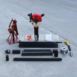 鲁探便携式浅层取土钻机 QTZ-2小型土壤取芯钻机