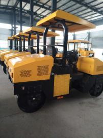 浩鸿3吨座驾式压路机自重3吨双钢轮压路机路面受力均匀