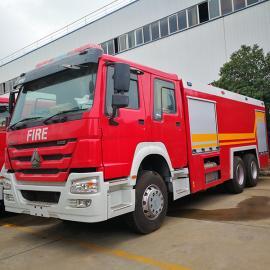 东风泡沫消防车-145双排消防车-6吨消防车