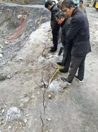 采石场石灰岩石头劈裂机