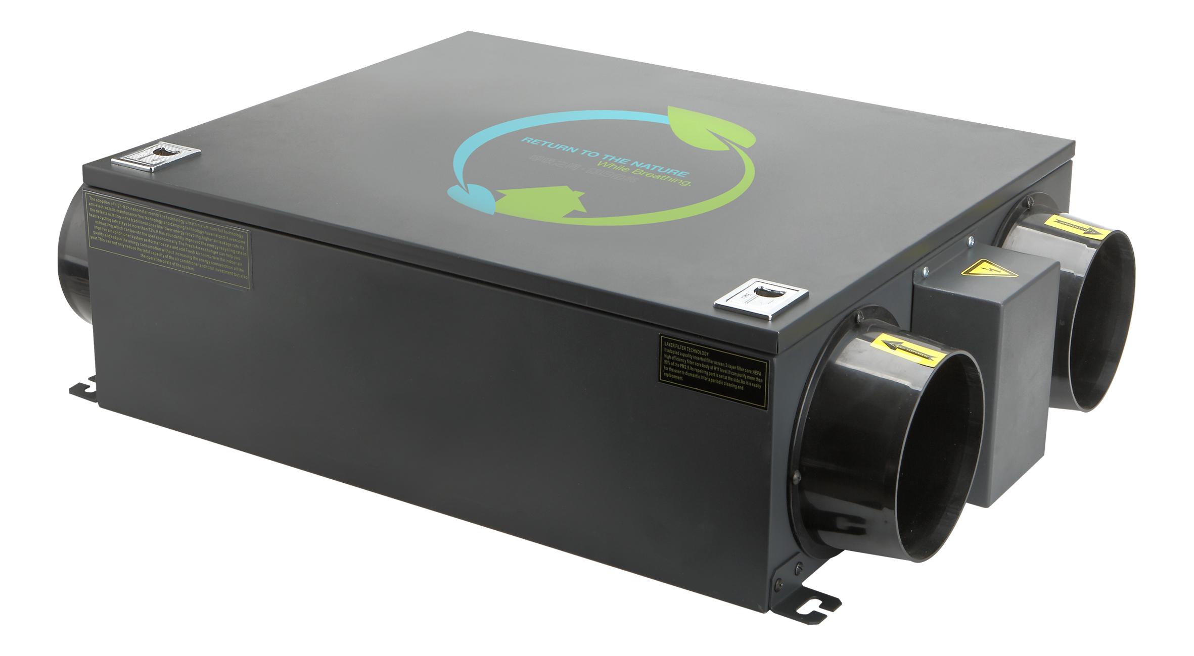 爱迩(上海)环保科技产品展示系统预算>v系统全热交换机144平贴新风墙纸图片