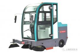 S7物业小区用全自动驾驶式全封闭扫地机道路环卫电瓶式清扫车