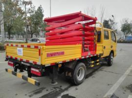 国五排放蓝牌东风8米液压升降平台高空作业车全国畅销