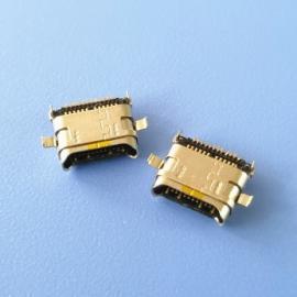 双包壳USB 3.1 TYPE C 双排贴片12+12母座 两脚沉板 沉板0.7