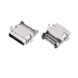 两脚沉板 TYPE C 双排贴片12+12 USB母座 沉板3.1 双包壳SMT贴板