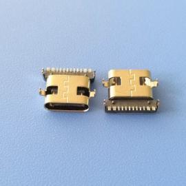 两脚鱼叉插板 TYPE C16P沉板式母座 沉板1.0 脚距10.64 前插后贴