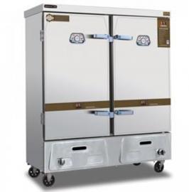 美厨燃气蒸饭柜MC-R24双门不锈钢蒸饭机商用24盘燃气蒸饭车蒸菜箱
