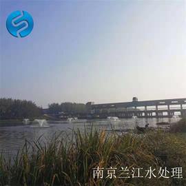河道景观喷泉曝气机安装运行
