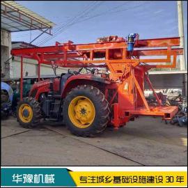 华豫大拖拉机带反循环钻机 车载式反循环打桩机