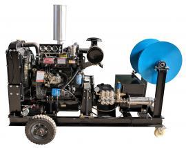 沃力克WL12/100柴油驱动大流量管道高压疏通机 管道疏通清洗!