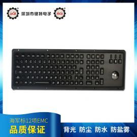 电镀钛黑防护等级为IP65的工业军工键盘