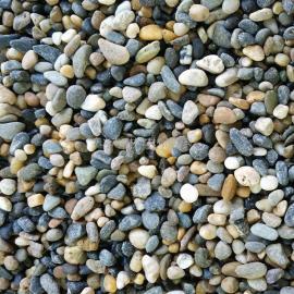 黑白杂色表面光滑4-50mm天然鹅卵石