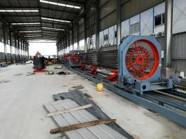 国内新型数控钢筋笼滚焊机