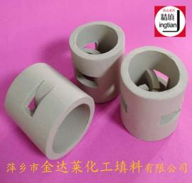 陶瓷鲍尔环 再生塔耐酸陶瓷鲍尔环 吸收塔瓷质填料 金达莱精填牌