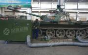 1500马力坦克车尾气净化设备 坦克维修车间烟气净化选万纯