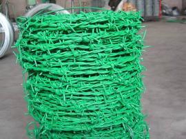 12#包塑双股拧刺丝围栏网――20公斤一盘圈山铁蒺藜年底促销