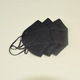 无纺布四层黑色折叠防护口罩
