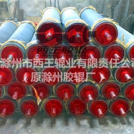 输送线滚筒托辊聚氨酯包胶保护耐磨降噪