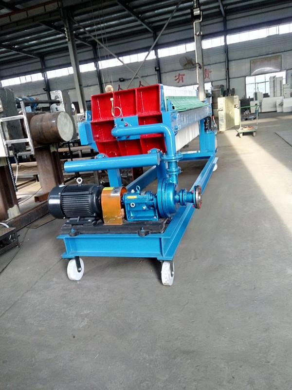 630系列压滤机,代架子轮子,操作简单,移动方便