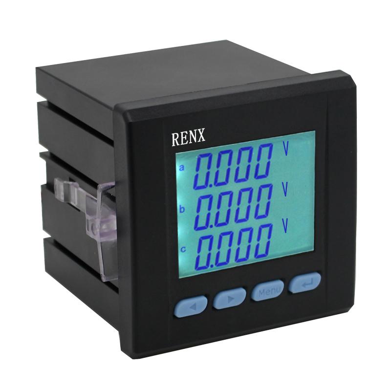 RX194U-3KY 三相液晶电压表 三相交流电压表 LCD液晶显示