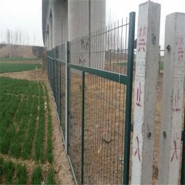 镀锌防护栅栏-铁路加高金属网片- 高铁桥下绿色隔离栅