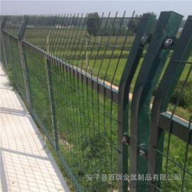 桥下铁路防护栅栏-水泥立柱防护栅栏-百瑞金属网片隔离网