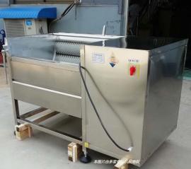 食品加工厂多功能去皮机果蔬清洗设备效果