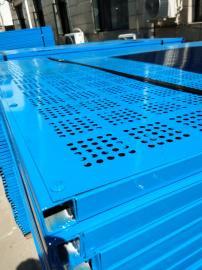恺嵘热卖 建筑爬架网 浸塑爬架冲孔板 高层施工外墙防护金属板网
