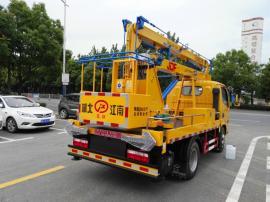 东风单排12米折叠臂升降式高空作业车生产企业大批量现货销售
