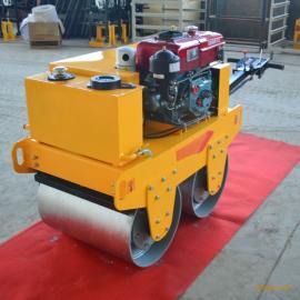 600钢轮路面压路机 小型手扶式双轮压路机 地面压实机