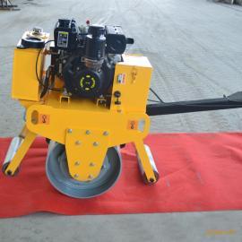 多功能小型压道机 手扶式单轮压实机 柴油压路机