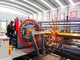 数控钢筋笼滚焊机 焊点饱满牢固可实现质量免检