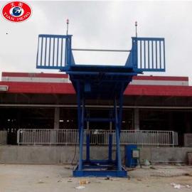 支持定做固定式液压升降台 2t养殖场卸猪台 上下猪专用升降台