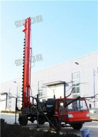 8米长螺旋打桩机 履带式螺旋打桩钻孔机 一次成孔高效便捷